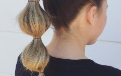High Looped Ponytail Hairstyles with Hair Wrap