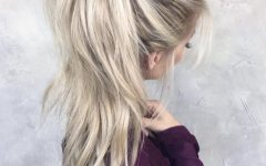 Messy High Ponytail Hairstyles with Teased Top