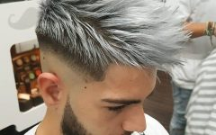 Silvery White Mohawk Hairstyles