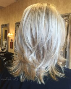 Tousled Shoulder Length Waves Blonde Hairstyles