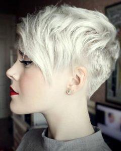 Uneven Undercut Pixie Haircuts