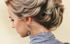 White Blonde Twisted Hairdos for Wedding