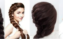 Braided Hairstyles on Saree