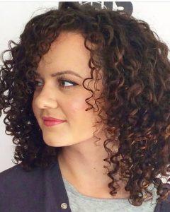 Curly Hair Medium Hairstyles