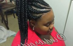 High Ponytail Hairstyles with Jumbo Cornrows