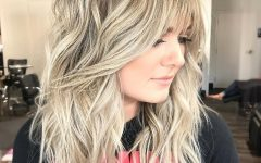Long Dynamic Metallic Blonde Shag Haircuts