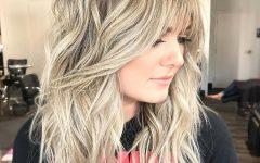 Long Dynamic Metallic Blonde Shag Haircuts