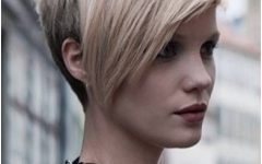 Long Tapered Pixie Haircuts with Side Bangs