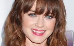 Middle-length Hairstyles with Highlights and Bangs