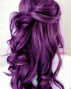 Purple Long Hairstyles