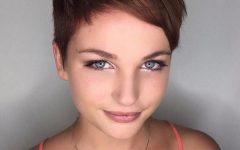 Short Choppy Side-parted Pixie Haircuts
