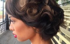 Short Wedding Hairstyles with Vintage Curls
