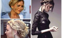 Braided Crown Ponytails For Round Faces
