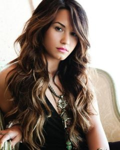 Demi Lovato Long Hairstyles
