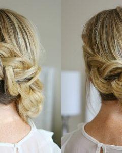 Dutch Braid Bun Hairstyles