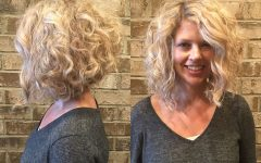 Medium Blonde Bob with Spiral Curls