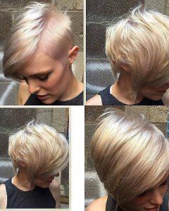 Platinum Asymmetrical Blonde Hairstyles