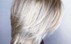 Platinum Balayage Shag Haircuts