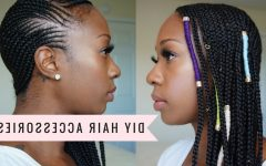 Ponytail Braids with Quirky Hair Accessory