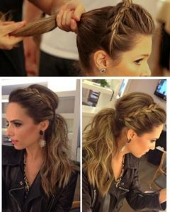 Pumped-Up Side Pony Hairstyles