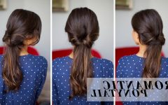 Romantic Ponytail Updo Hairstyles