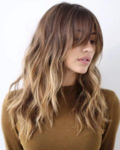 Round Face Long Hairstyles With Bangs
