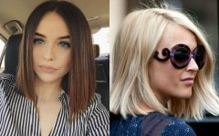 Sharp and Blunt Bob Hairstyles with Bangs