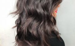 Shiny Brunette Shag Haircuts For Long Hair