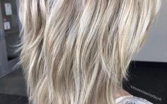Two-layer Razored Blonde Hairstyles