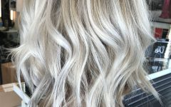 Ice Blonde Lob Hairstyles