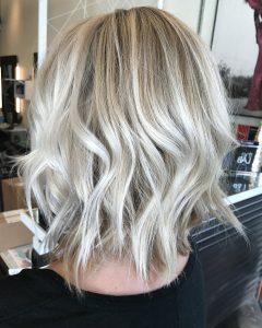 Ice Blonde Lob Hairstyles