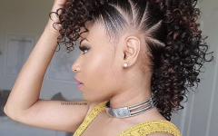 Black Braided Faux Hawk Hairstyles