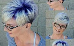 Platinum and Purple Pixie Blonde Hairstyles