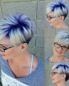 Platinum And Purple Pixie Blonde Hairstyles