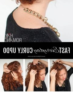 Quick Updo Hairstyles For Curly Hair