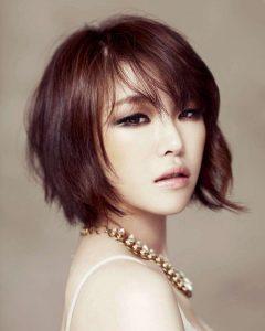 Wispy Bangs Asian Hairstyles