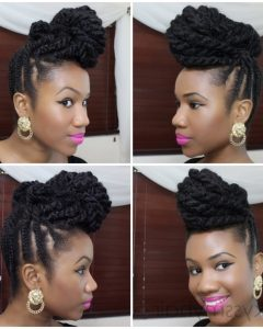 African Hair Braiding Updo Hairstyles