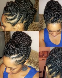 Knot Twist Updo Hairstyles