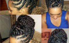 Flat Twist Updo Hairstyles on Natural Hair
