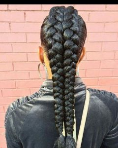 Mohawk Hairstyles With Multiple Braids