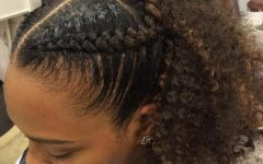 Reverse French Braids Ponytail Hairstyles with Chocolate Coils