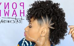 Natural Curls Mohawk Hairstyles