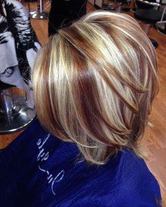 Brown Blonde Sweeps of Color Hairstyles