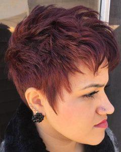 Asymmetrical Chop Mohawk Haircuts