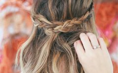 Brunette Macrame Braid Hairstyles