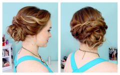 Easy Curled Prom Updos