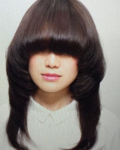 Eye-covering Bangs Asian Hairstyles