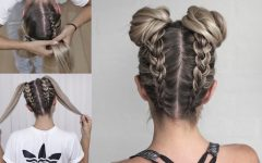 French Braid Buns Updo Hairstyles