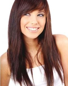 Long Haircuts With Layers And Side Swept Bangs