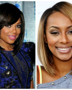 Medium Haircuts For Black Women With Round Faces